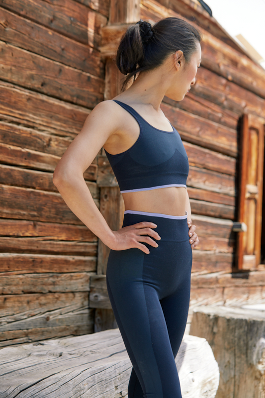 seamless legging recycled for yoga