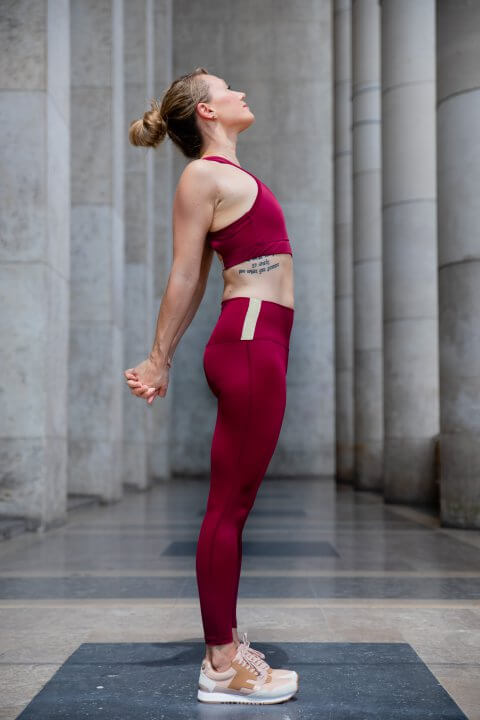 Activewear legging bordeaux