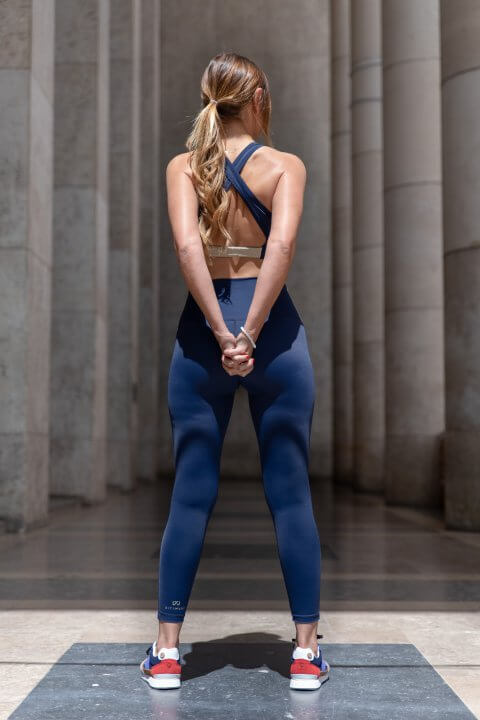 Activewear legging bleu