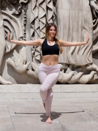 Legging de yoga rose