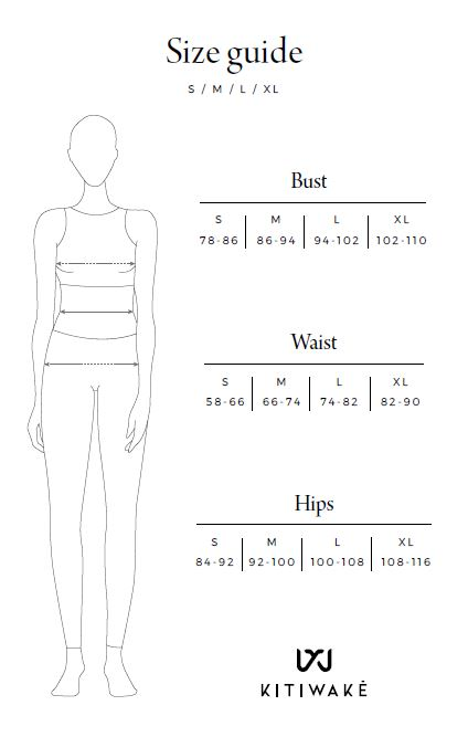 Size Guide Shop Kitiwake